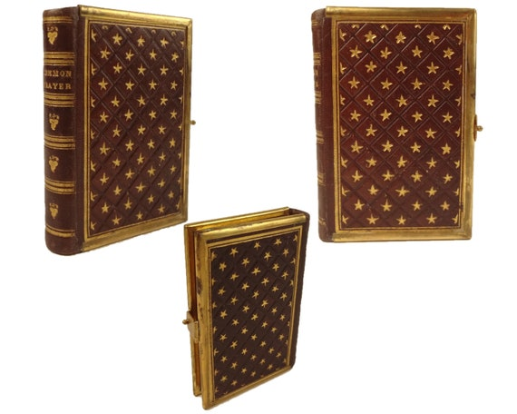 Book of Common Prayer. Diced calf binding. Miniature. 19th century.