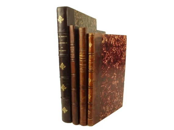 Four 19th century French works in handsome bindings.