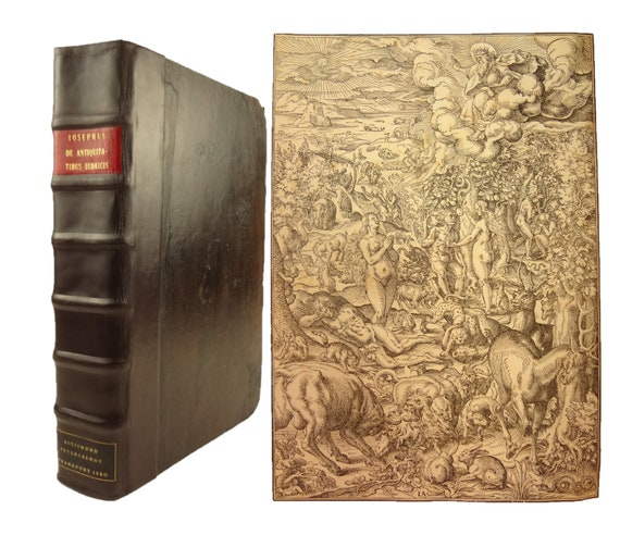 1580 Opera (Works), Josephus. Jost Amman woodcuts. Folio. Well illustrated. 1st century Jewish historian, mentions Jesus.