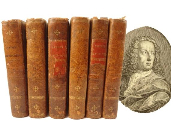 1741 Lettres Cabalistiques ou Correspondance Philosophique, Jean-Baptiste de Boyer Marquis d'Argens. Paris