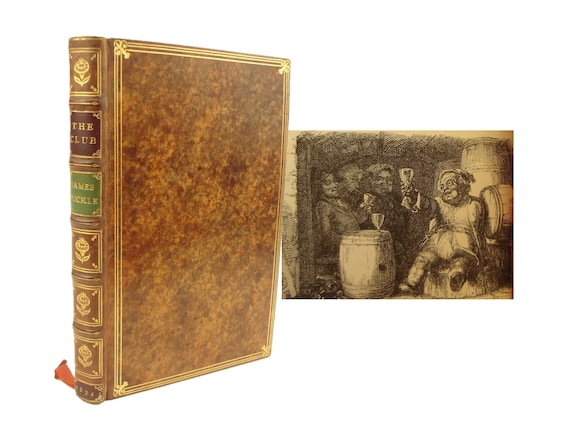 1834 The Club, or A Grey Cap for a Green Head, by James Puckle. Chiswick Press. Fine binding, Root and Son, London.