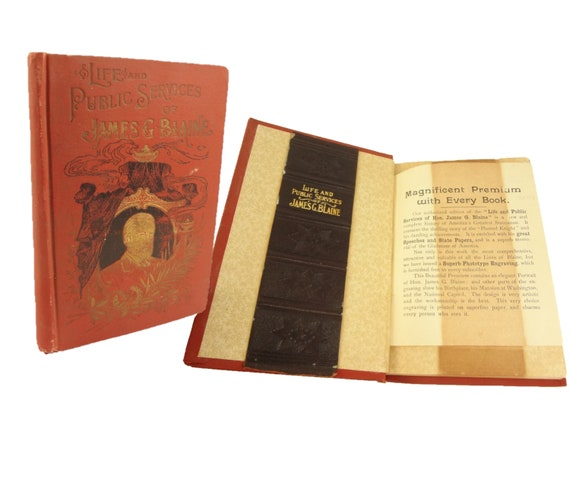 1893 Salesman's prospectus for Life & Public Services of James G. Blaine