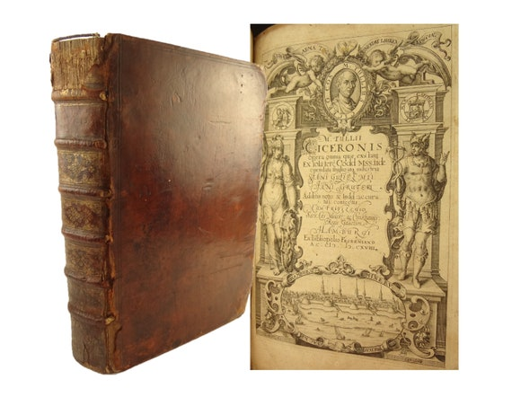 1618 Cicero Opera Omnia (Works), Volumes I & II bound in one. Froben