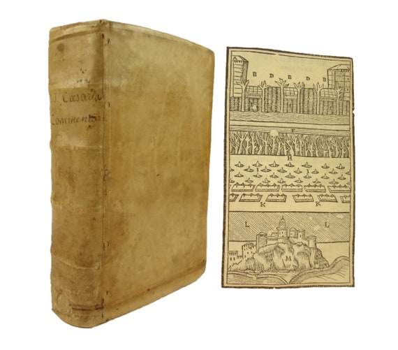 1539 Julii Caesaris Commentarii (Julius Caesar Commentary). Girault, Paris. Caesar's commentaries on the Galic and Civil war, among others.