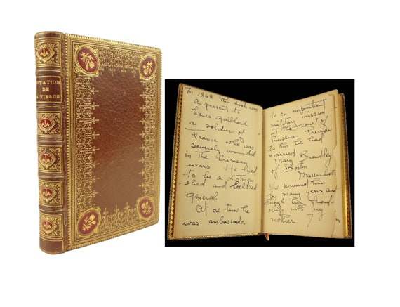 1868 Imitation de la Sainte Vierge. Rich provenance. Fine binding.