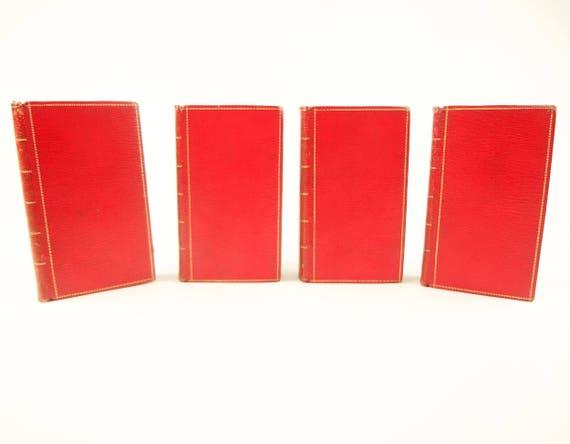 1649 Seneca, printed by Elzevir, in 4 volumes (tall), likely Roger Payne bindings