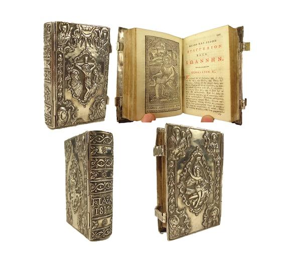 1813 Gospels, Revelations of John. Nikolaos Glykis, Venice. Silver repousse binding.