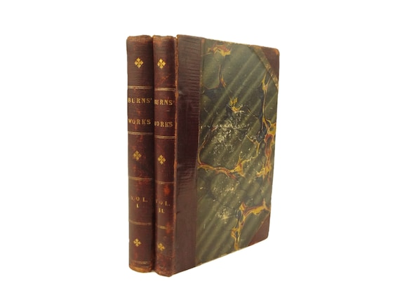 1816 extra illustrated, The Poetical Works of Robert Burns, in two volumes.