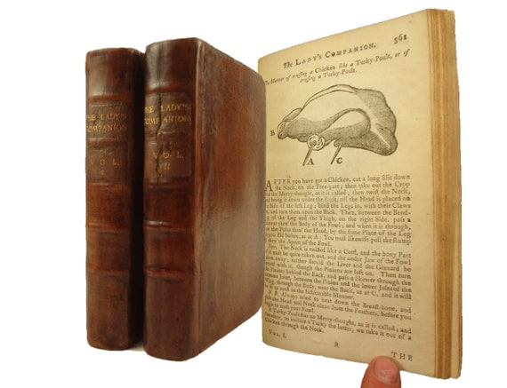 1753 The Lady's Companion... Three Thousand Different Receipts (recipes)...of Cookery. J. Hodges, R. Baldwin, London.