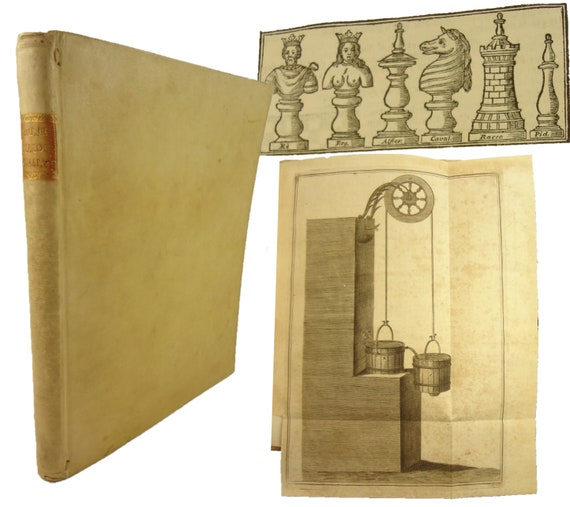 1754 Dialoghi Analittici di Francesco Saverio Brunetti. Chess, mathematics, etc.. Fold-outs.