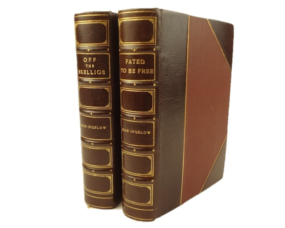 1873 Off the Skelligs, 1877 Fated to be Free, by Jean Ingelow. Attractive matching bindings.