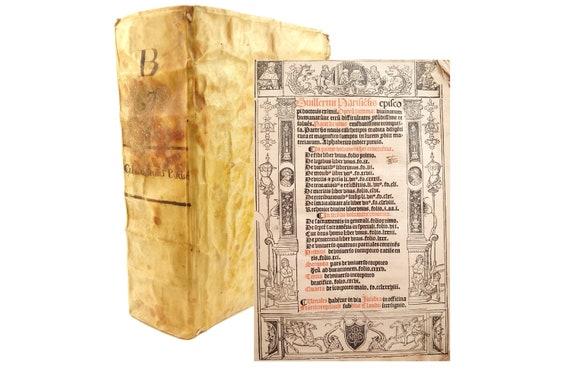 1516 Opera Summa, Guillermus (William of Auvernge Bishop of Paris).16th century Mexico provenance,Puebla de Los Angeles- Francisco de Toral.