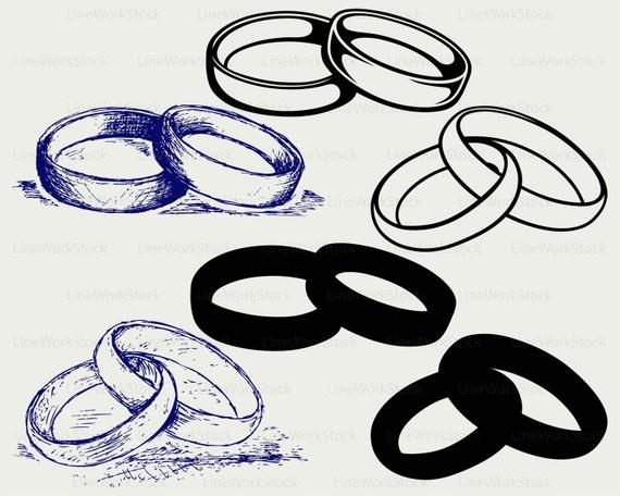 Ehering Svg Hochzeit Ring Clipart Ring Svg Kontur Ring Cricut Etsy