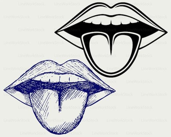 Ouvrez La Bouche Langue Clipart Bouche Ouverte Svg Etsy
