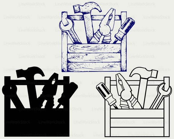 Line Art Box Designs : Toolbox svg clipart tools