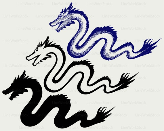 Chinese Dragon Svg Dragon Clipart Snake Svg Dragon Silhouette Etsy