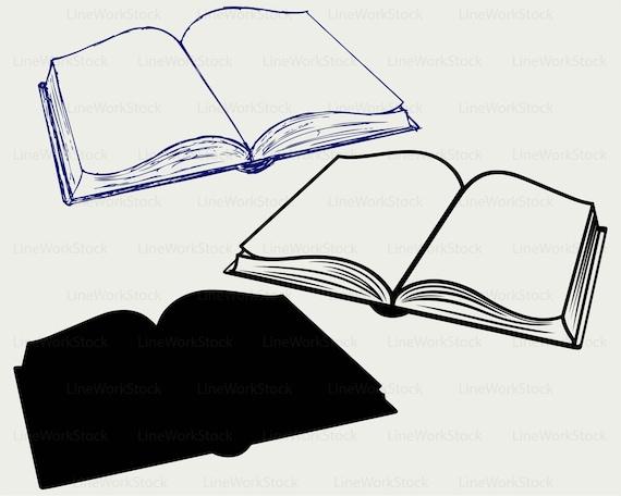 Open Book Silhouette Clip Art