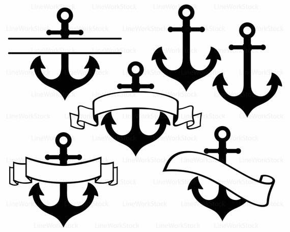 Anchor Svg Anchor Clipart Anchor Svg Anchor Silhouette Anchor Etsy