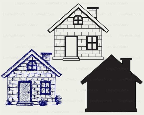 House Svg House Clipart House Svg House Silhouette House Etsy