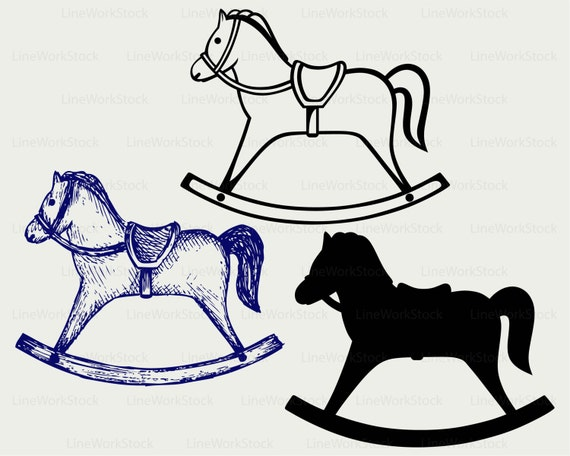 Silhouette Rocking Horse Clipart