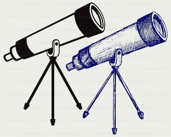 Teleskop stativ svg teleskop clipart teleskop etsy