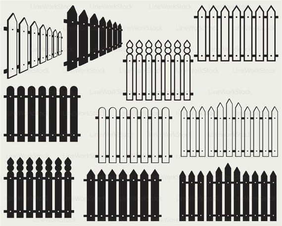 Wooden Fence Svg Fence Clipart Fence Svg Fence Etsy