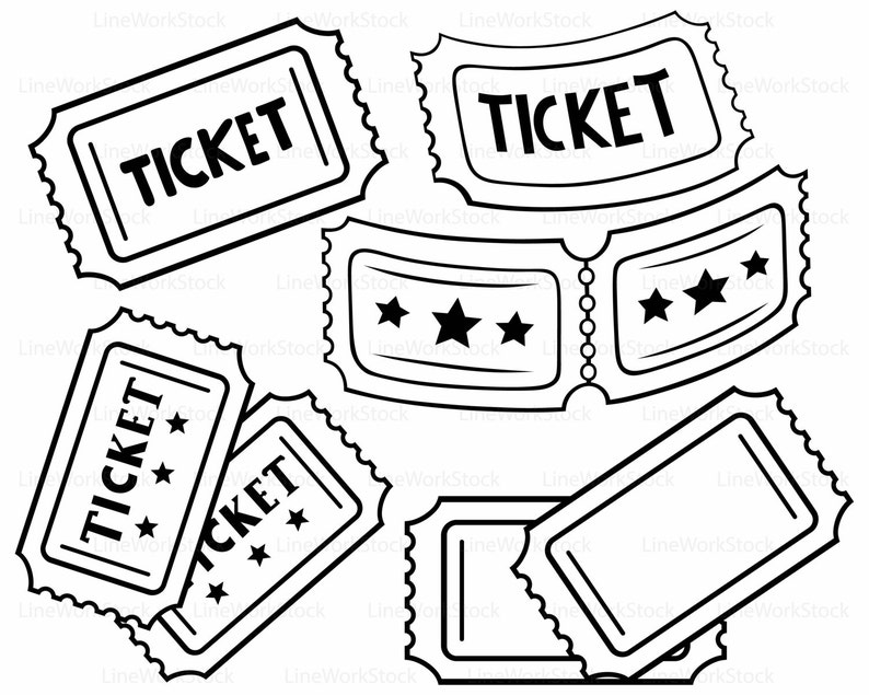 Ticket Svgclipartticket Svgticket Silhouetteticket Cricut