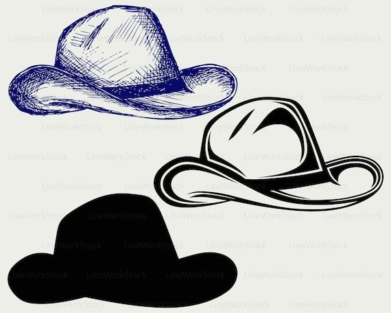 Cowboy Hat svg/hat clipart/hat svg/cowboy hat silhouette ...