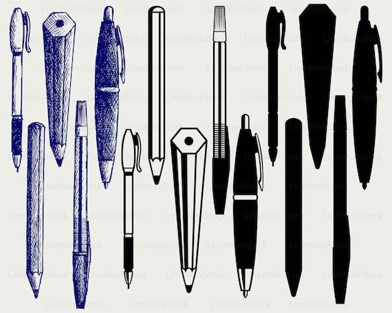 Good Ball Pen Svg/pen Clipart/pencils Svg/pen Silhouette/pencils | Etsy
