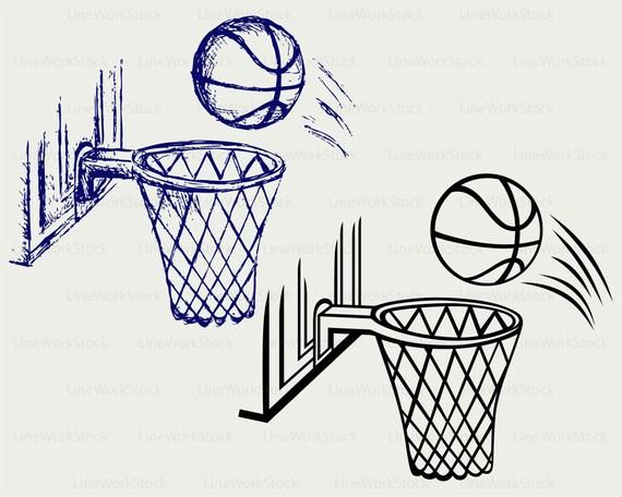Basketball Board Svg Basketball Clipart Basketball Board Etsy