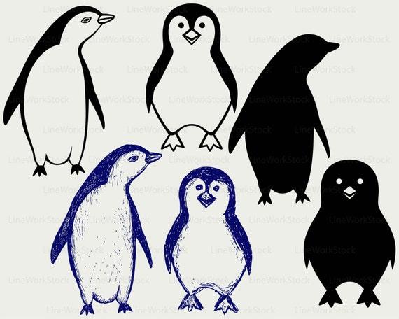 penguin svg/cartoon penguin clipart/penguin svg/penguin silhouette