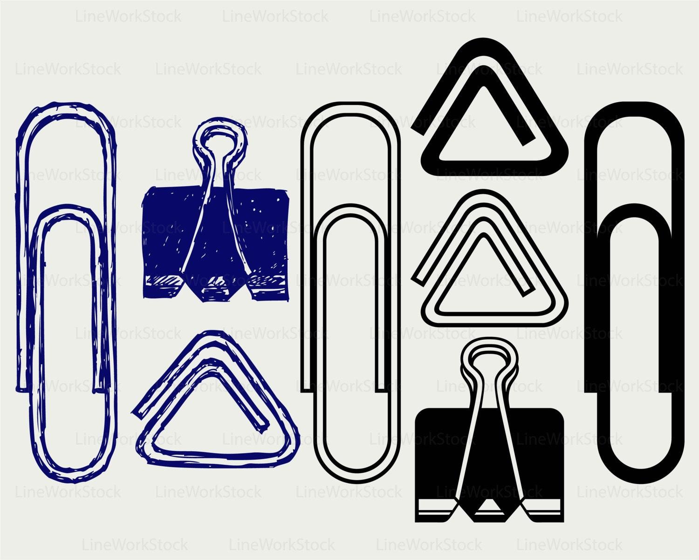 paper clips svg/paper clips clipart/paper clips svg/clips | etsy