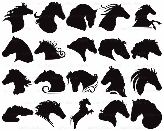 Pferde Svg/Pferde Clipart/Pferde Svg/Pferde Kontur/Pferde | Etsy