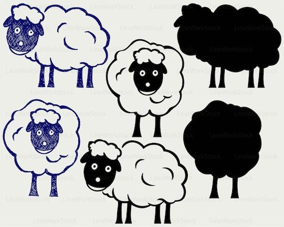 Bande Dessinée Un Svg Mouton Mouton Clipart Mouton Svg Mouton Silhouette Mouton Cricut Autre Coupe Fichiers Mouton Clip Art Numérique