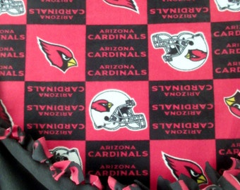 3e94bdc6a Arizona Cardinals ~ No Sew Hand Tied Fleece Football Blanket Made From  Licensed NFL Fabric