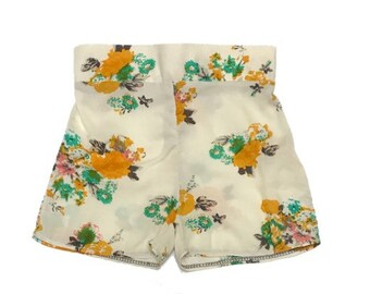 White Floral Bardot Shorts 2T