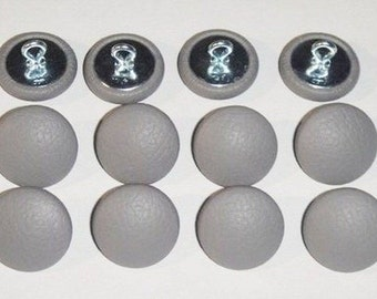 Set Of 12 Prong Back Upholstery Buttons Platinum Gray Vinyl Etsy