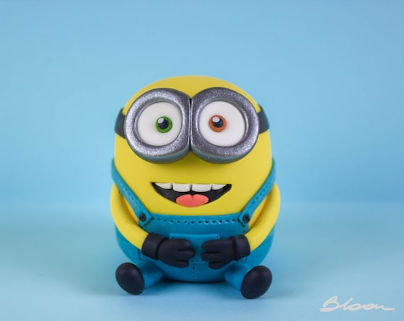 Outstanding Minion Cake Topper Minions Cake Topper Despicable Me Etsy Personalised Birthday Cards Cominlily Jamesorg