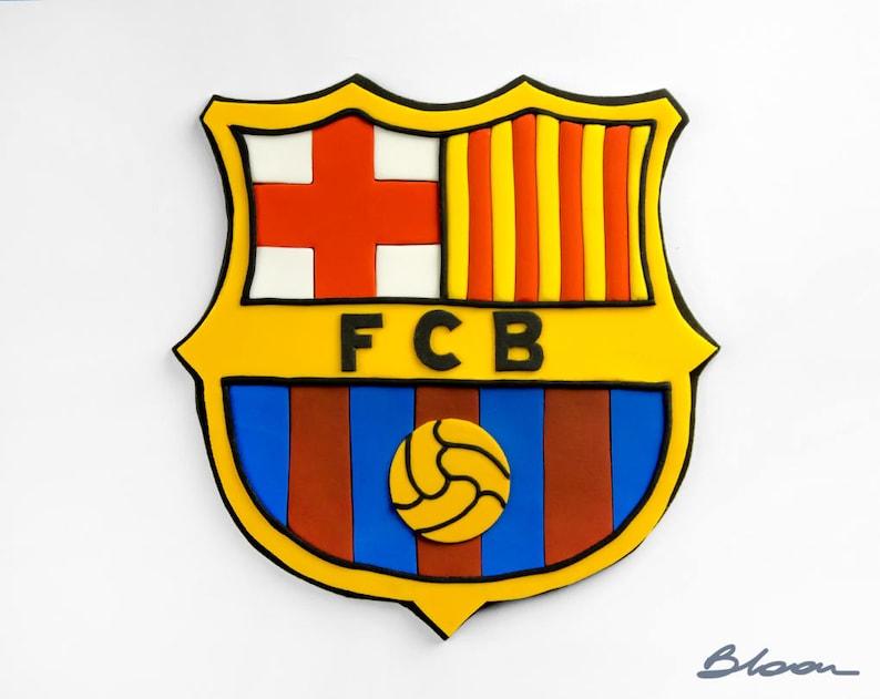 fc barcelona cake topper soccer cake football cake topper
