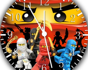 Ninja Ninjago Frameless Borderless Wall Clock X46 Nice for Gift or Room Wall Decor