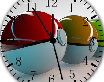 Borderless Pikachu Frameless Wall Clock E247 Nice for Decor Or Gifts