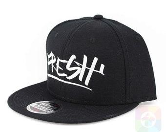f5dc0f8b3f6 Fresh Flat Six Panel Pro Style Snapback Hat 1100