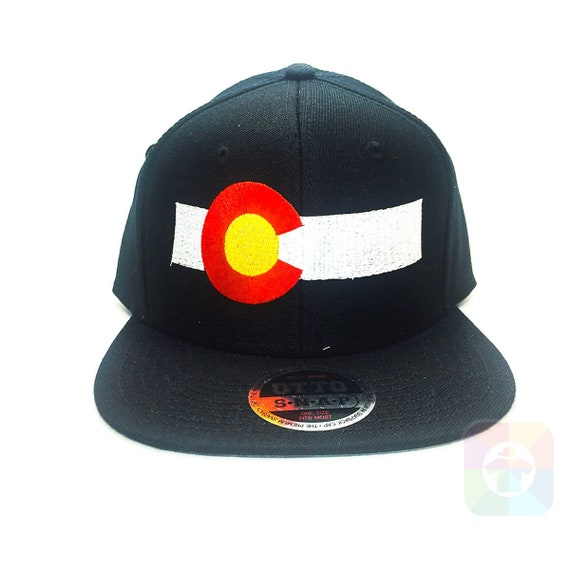 336ad77adbe Colorado Flag Bar Flat Six Panel Pro Style Snapback Hat 1445