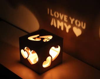 Anniversary Gifts for Girlfriend Personalized Girlfriend Gift Girlfriend Gift Anniversary Romantic Gift Love Lantern