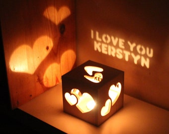 Gift for Woman Anniversary Gift for Her Romantic Lighting Personalized One of a Kind Girlfriend Present