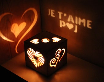 Girlfriend Gift Personalized Je t'aime Personalized Gifts for Women Anniversary Gifts for Her Custom Signs Wood