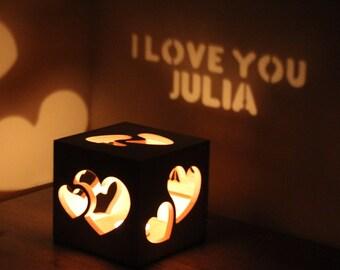 Personalized Girlfriend Gift Idea, Wife Gift Idea, Gift Idea for Her, Girlfriend Anniversary, Wife Anniversary, Unique Magic Lantern