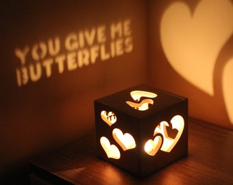 Long Distance Boyfriend Gift You Give Me Butterflies Personalized Gift for Him Bedroom Lighting Love Sign Romantic Gifts