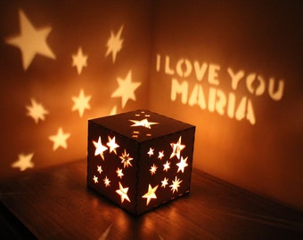 Girlfriend Personalized Gift Light Up Message Magic Box Customized Text Romantic Gift for Her Special Occasion Gift Magic Lantern