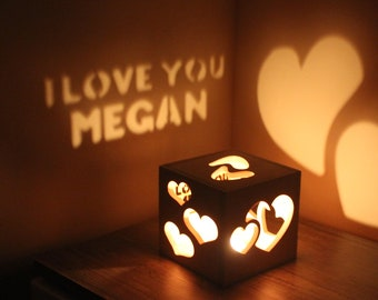 Love Gifts for Her Night Lamp Love Gift Idea Unique Gift for Women Bedroom Personalized Couple Personalized Couple Long Distance